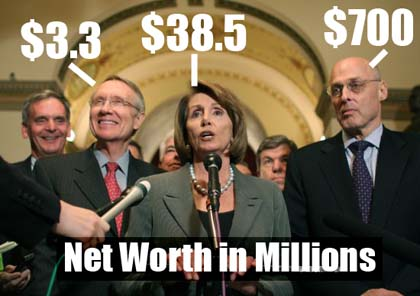 Harry Reid, Nancy Pelosi, Henry Paulson Jr