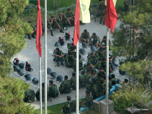 3Tir, Iranian Parliament- Resting Guards by Hamed Saber